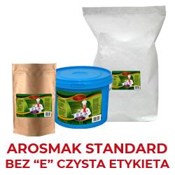 Bez ,,E'' czysta etykieta -zawiera podstawowe składniki i standardowy bukiet aromatyczno smakowy, produkt nie zawieraskładników wymaganych deklaracją ,,E'' tzw.- czysta etykieta