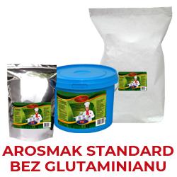 Bez glutaminianu -zawiera podstawowe składniki i standardowy bukiet aromatyczno smakowy, produkt nie zawiera w swoim składzie glutaminianu
